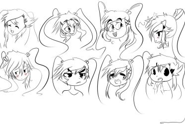 Facial expression practice by Kiddy-Tan