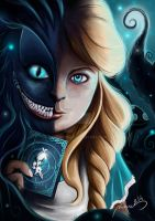 Alice And Cheshire Cat by Noumenie