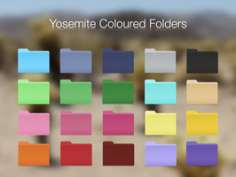 Yosemite Coloured Folders by BlackVariant