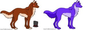 Fnaf wolf adoptables:Bonnie and Freddy by kazmir2