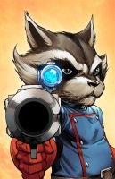 ROCKET RACCOON by TeoGonzalezColors