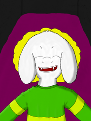 Asriel Dreemurr - first time digital drawing by TakeruDavis
