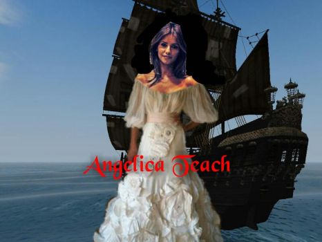 POTC - Angelica in a wedding dress by Capitan-JackSparrow
