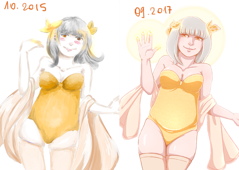 Bea - 2015 vs. 2017 by AikoIwahara