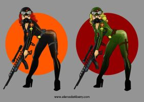 Pin up soldier colour test by ElenaDarkBerry