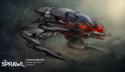 Enemy fighter concept by GeniusFetus