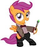 Scootaloo as the 11th Doctor by CloudyGlow