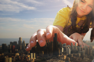 Giantess Heather's Divine Reach by dochamps