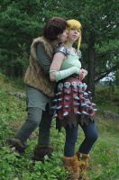 Hiccup x Astrid - Small kiss by Kozekito