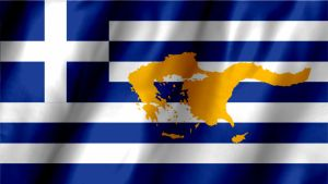 Greece Flag with Greater Greece Map by Hellenicfighter