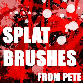 50+ Blood or Splatter Brushes by peterpson