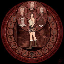 Tomb Raider Stained Glass by KeithByrne