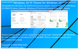 Windows 10 TP Theme for Windows 10 [UPDATED] by WIN7TBAR