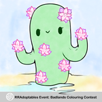 Colouring Cactus Contest For RRAdoptables by rockythebunny13