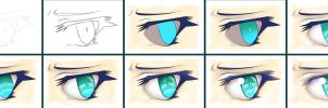 Eye Progression Tutorial Collaboration - Jewels by calbhach