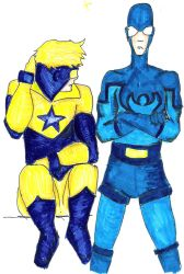 Boostle-BluebeetleBoostergold by Slothsofdeath