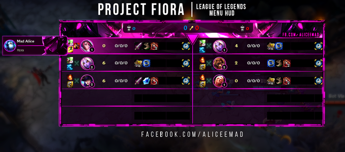 League of Legends Menu HUD - Project Fiora by AliceeMad