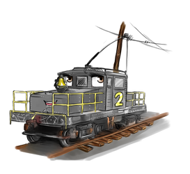 Sparky the Steeplecab [Commission] by TTTEFANS