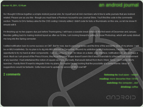 Simple Android Journal Skin