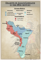Dialects of Alsace-Lorraine in the 19th century by Arminius1871