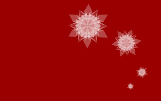 Snowflake Wallpaper Red by fcomX