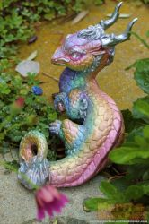 Prism Ice Halo Chinese Dragon by The-SixthLeafClover