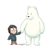 Chloe and Ice Bear by BlueOrca2000