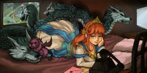Commission: Scylla - Smite by amyanimalover
