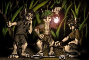Three Goblins and a Key by Saurus