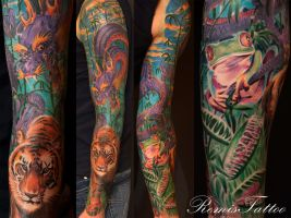 tiger frog dragon dragon fly by Remistattoo