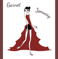 Garnet - January by Winged-blackshell