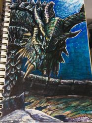 Skyrim- Paarthurnax by mgwolf999