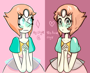 Past Pearl My style vs 90s Anime Style by cragy-paste