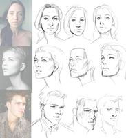 Studies: faces 1 by Remarin