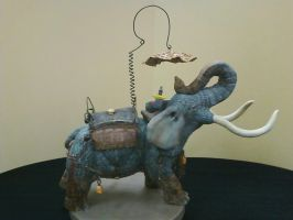 War Elephant sculpture by Rathsi
