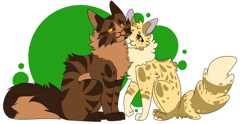Tigerclaw and Goldenflower by NightmareSparckle