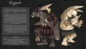 Rigarek Race Sheet by monokroe