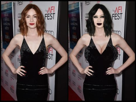 karen gillan goth change..By Request by Attwood3049