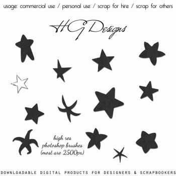 Photoshop Star Brushes by HGGraphicDesigns