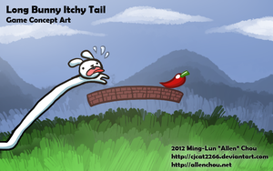 Long Bunny Itchy Tail by cjcat2266