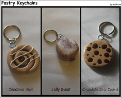 Pastry Keychains by Mahkohime