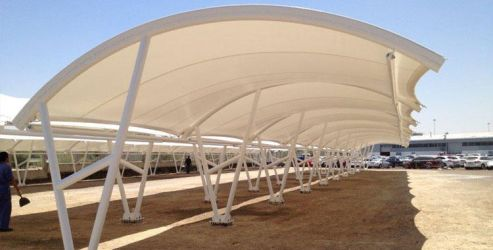 Car Parking Tensile Structure by fabchandigarh