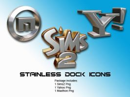 Stainless Dock Icons I by C-Volume