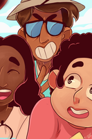 Selfie at the beach by Ful-Fisk