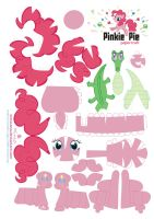 Pinkie Pie Papercraft by Kna