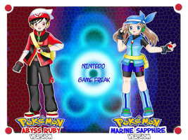Pokemon Abyss Ruby and Marine Sapphire by TheBlueMelancholy
