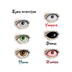 Eyes - Exercice by vampirekingdom