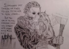 Michael Myers and Laurie moment by ButeonineOwl