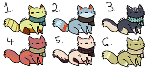 Cheap Cat Adopts! (4/6 left!) by Myth-Adopts