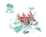 Coral Fakemon by Toldentops